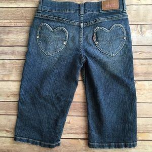 Girls Levi's Bermuda shorts with heart pockets